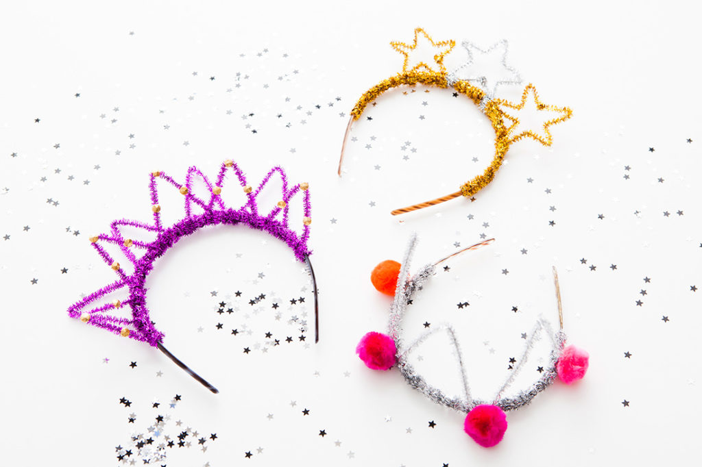 Sparkly pipe cleaner hairband tiaras