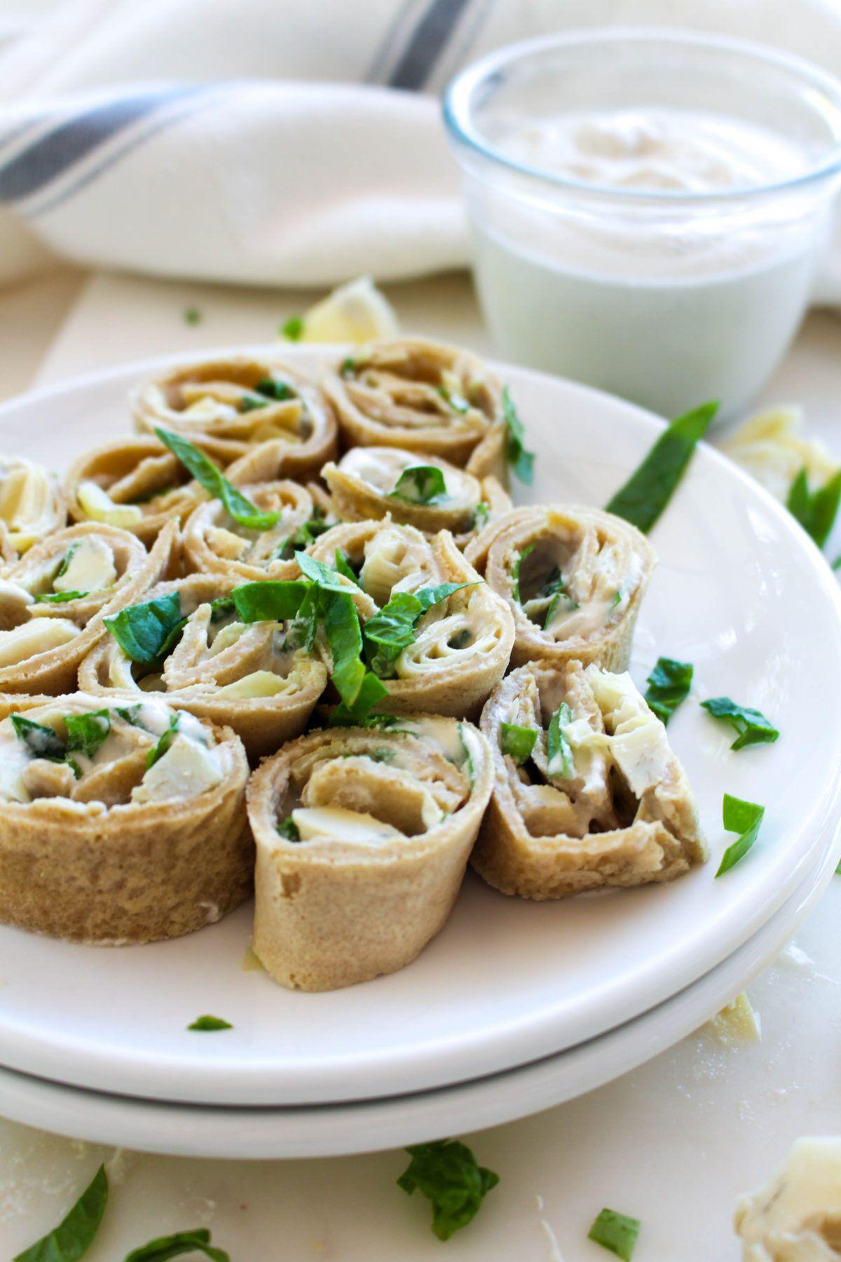 Spinach artichoke pinwheels recipe