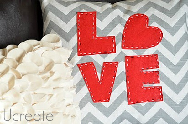 Stitched %22love%22 pillow