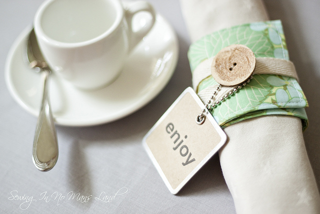 Sweet napkin rings