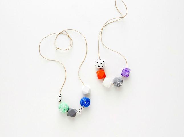 Swirled painted beads