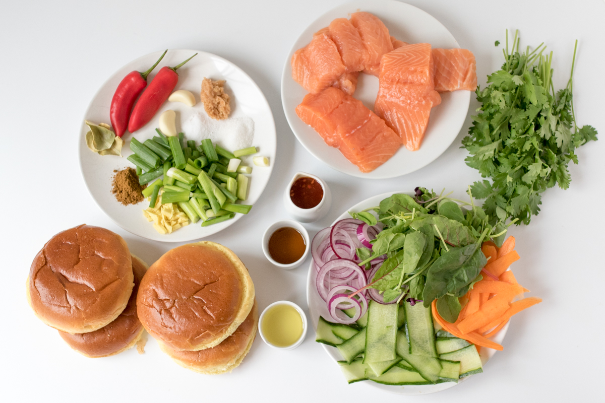 Thai fish burgers ingredients