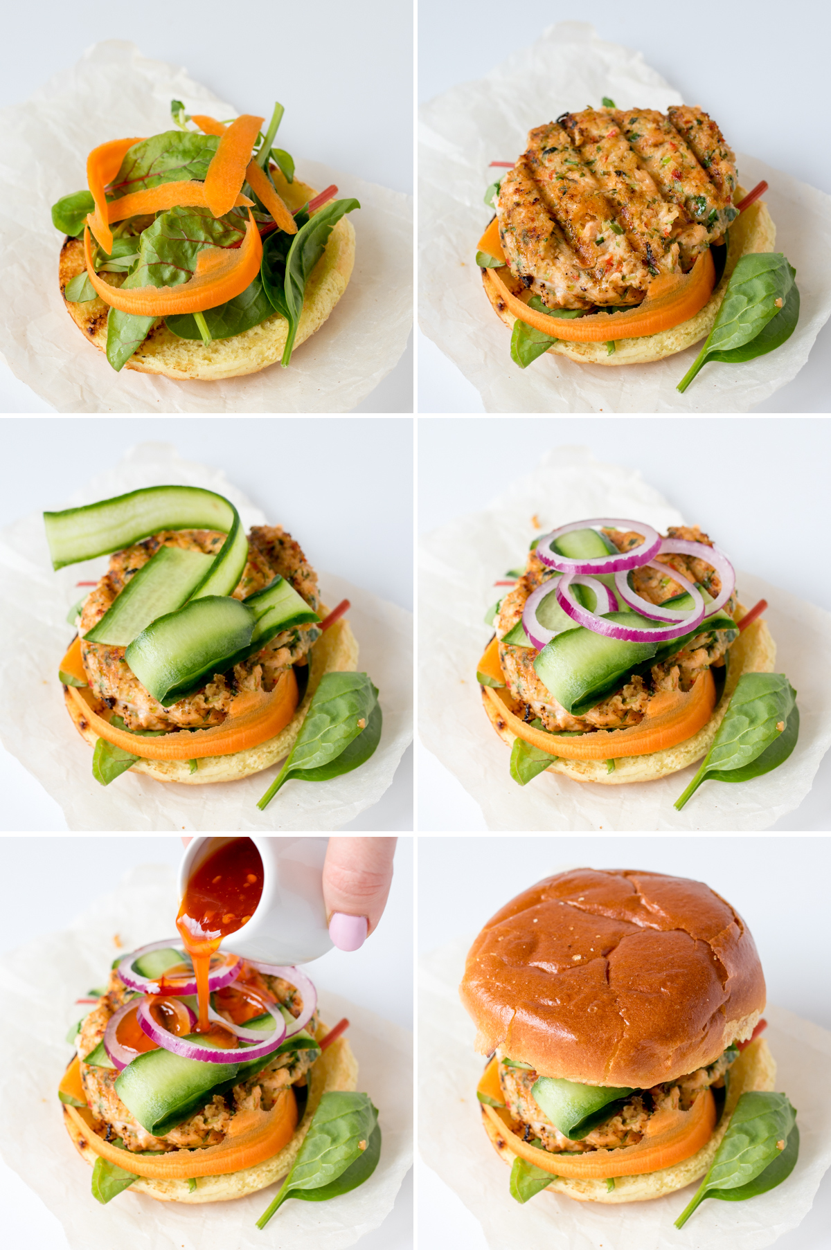 Thai fish burgers step4 collage