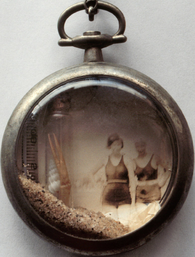 Tiny pocket watch shadow box