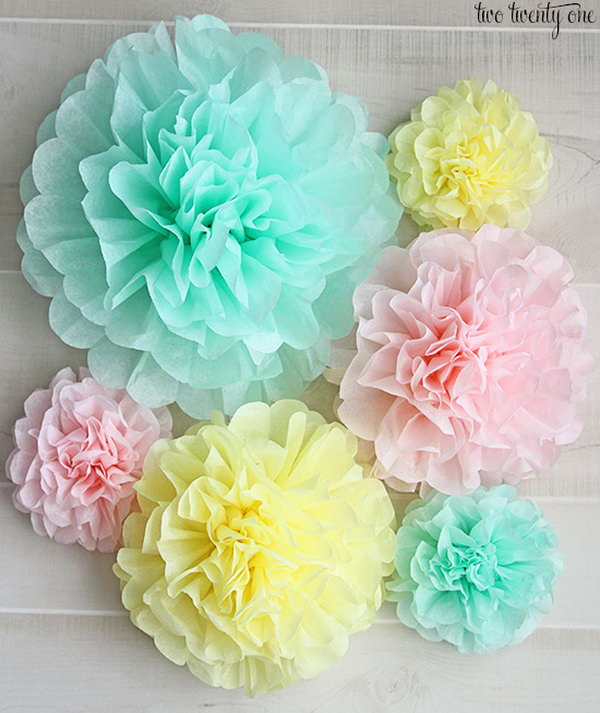 paper poms Tissue paper pom-poms are a beautiful decor addition to any casual wedding reception or bridal shower they are just as unique, colorful and classy as the circular.