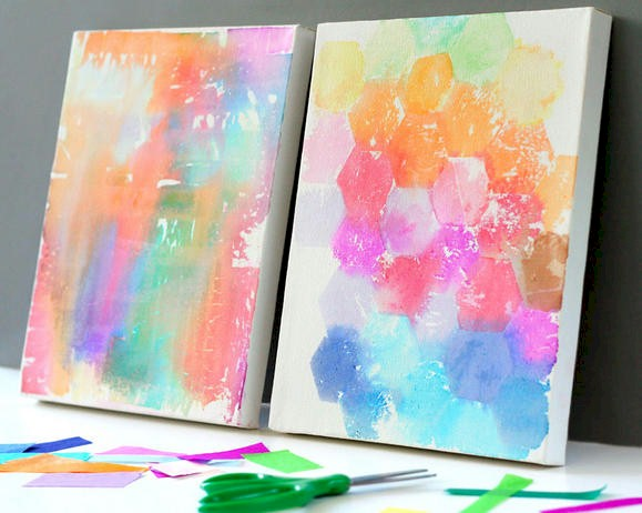 "Tissue paper ""painting"""