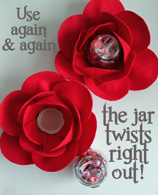 Twisting candy jar flower