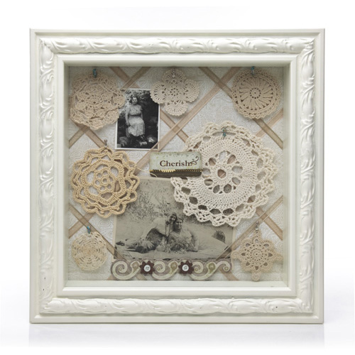 Vintage Doily Shadow Box