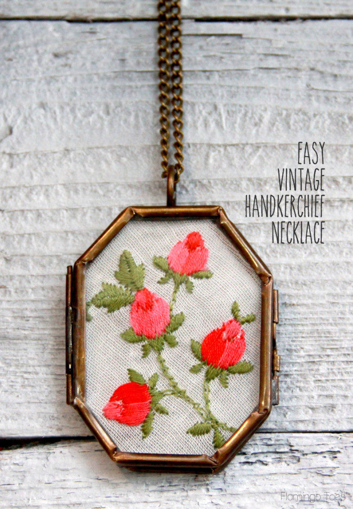 Vintage handkerchief necklace