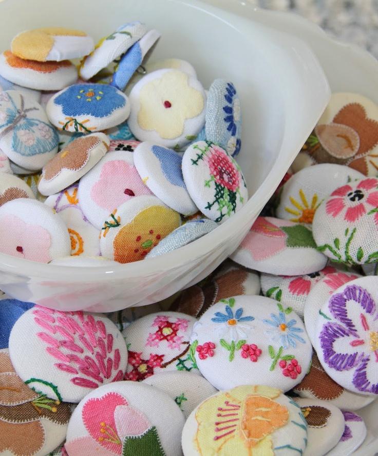 Vintage linen buttons
