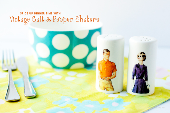 Vintage sewing pattern photo shakers