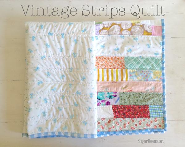 Vintage strip quilt