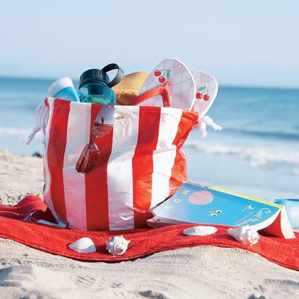 Waterproof duct tape beach bag