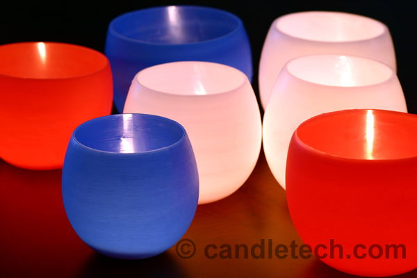 Wax water balloon luminaries