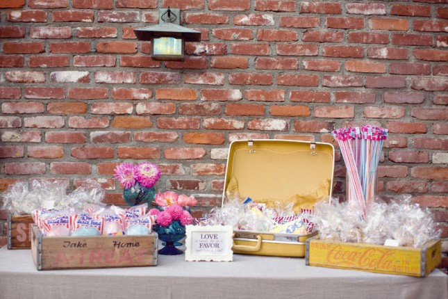 Wedding favour display