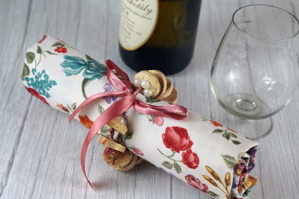 Wine cork napkin ring