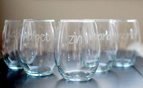 Wine type glasses