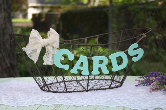 Wire baskets wedding card holder