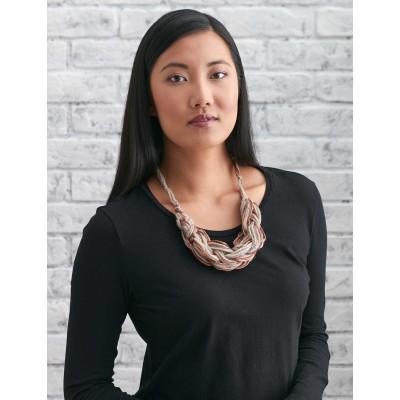 Arm knit necklace