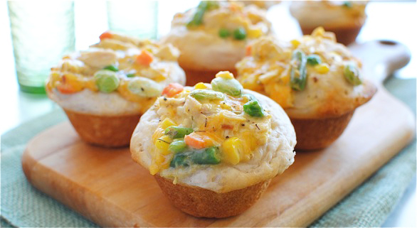 Chicken pot pie cupcake
