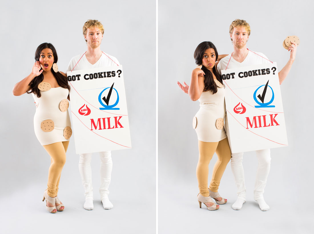 Cookies and milk diy costume
