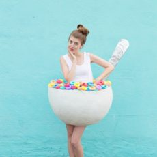 Diy bowl of cereal costume diy