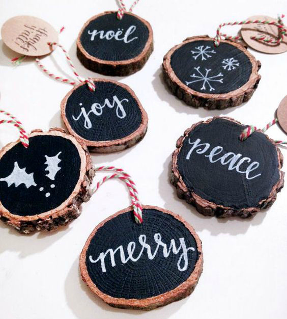 Diy chalkboard ornaments