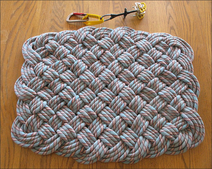 Diy climbing rope rug