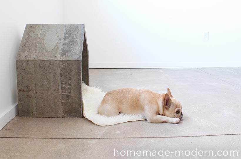 Diy concerete doghouse