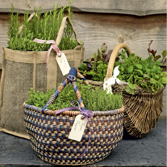 Diy herb baskets