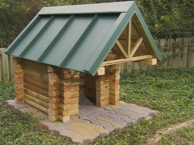 Diy log cabin doghouse