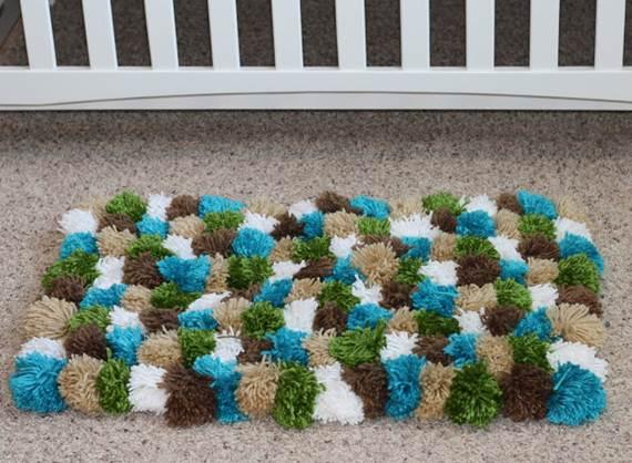 Diy pompom rug