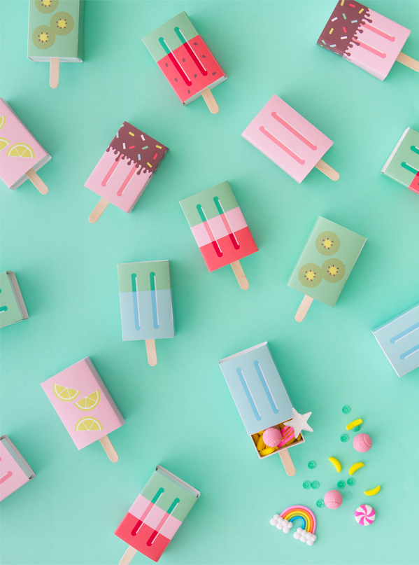 Diy popsicle favor boxes
