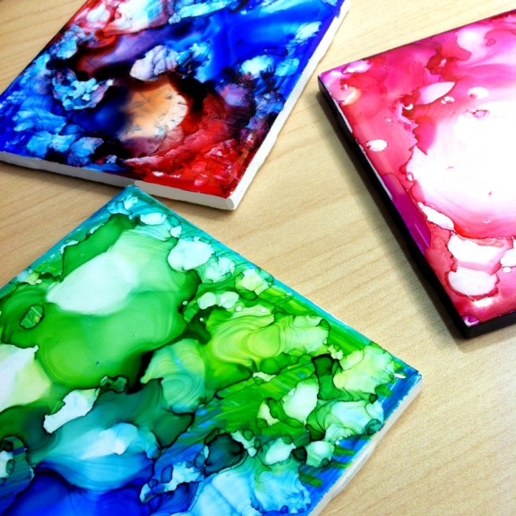 Diy sharpie coasters