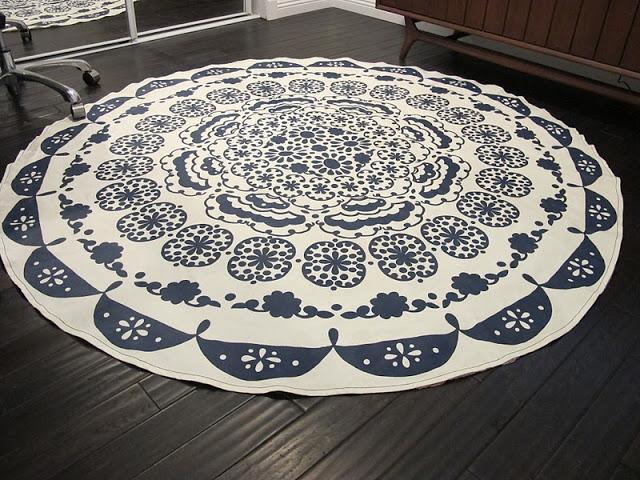 Diy tabelcloth rug