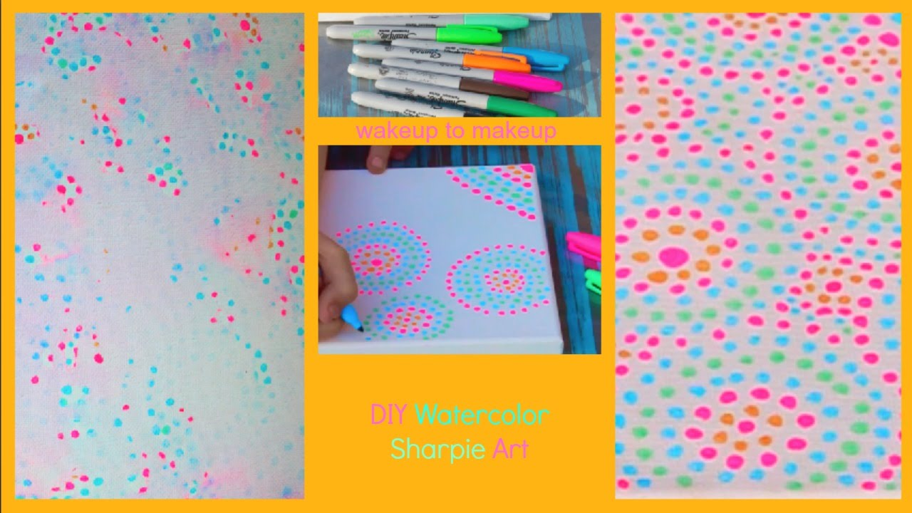 Diy watercolor sharpie art