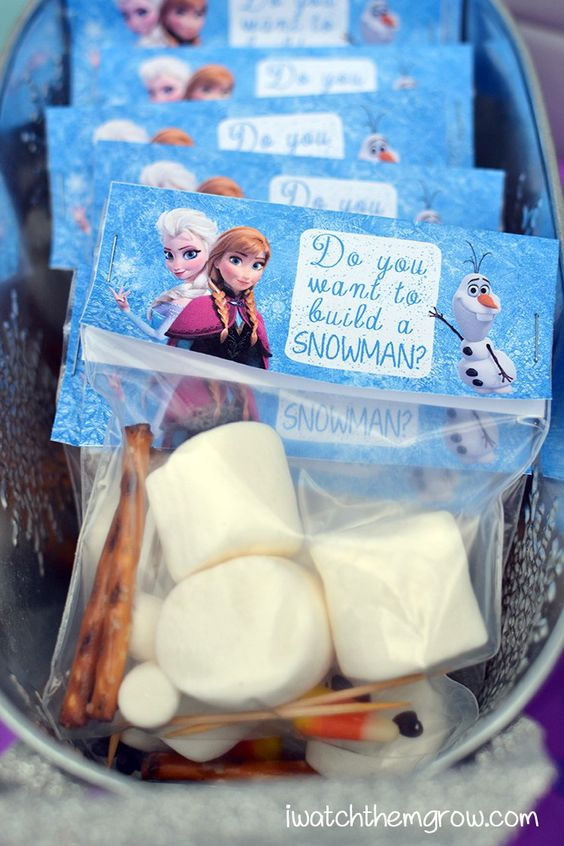 Frozen diy party favor