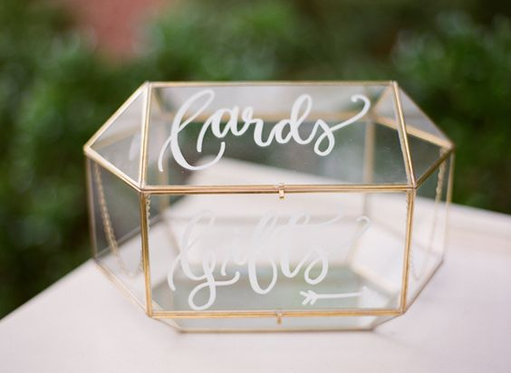 Glass case wedding box