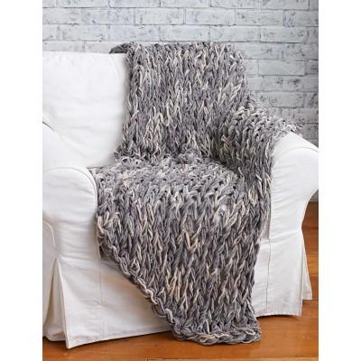 Grey armknit blanket