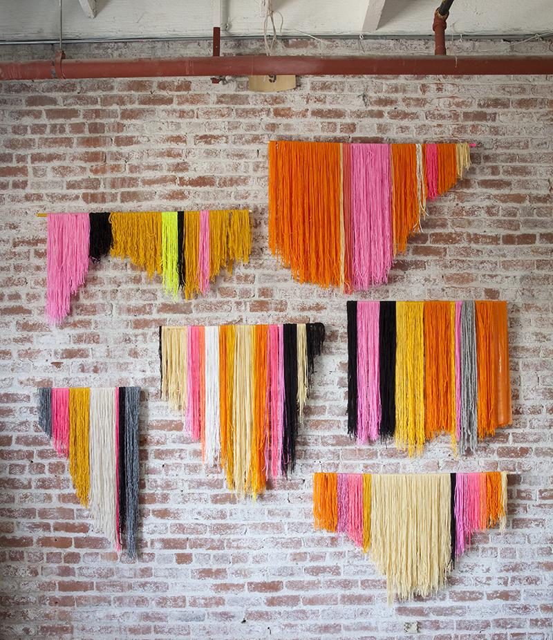 Hanging yarn