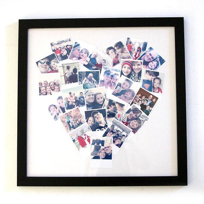 Heart photo display