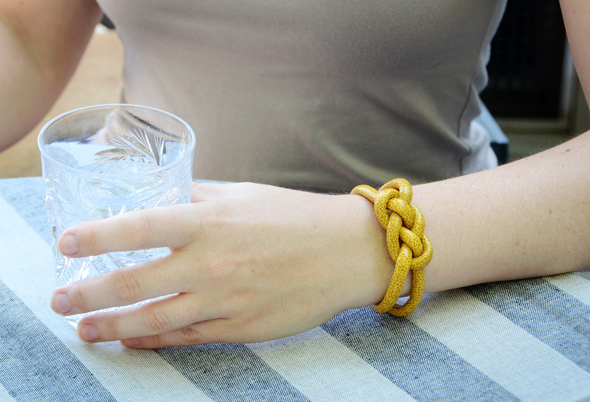 How to make knotted rope bracelets diy 13