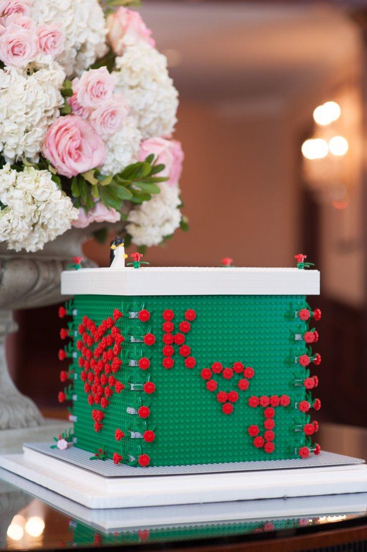 Lego box wedding card