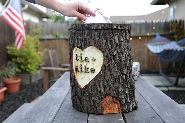 Log card box diy