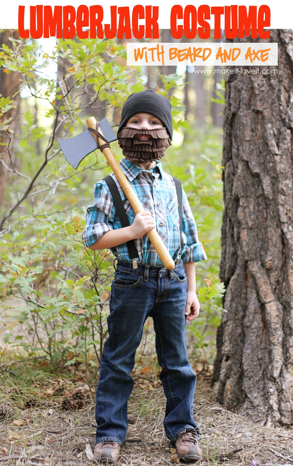 Lumberjack costume with beard