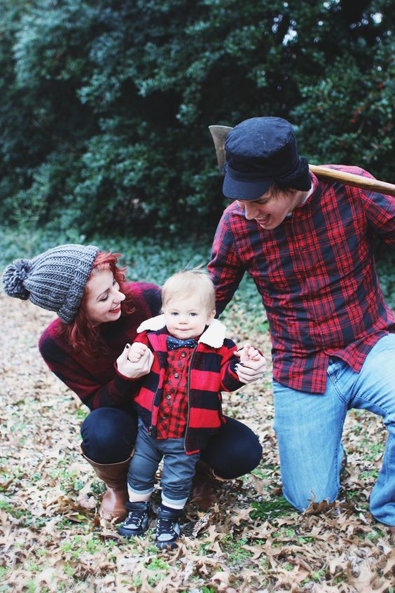 Lumberjack photoshoot family idea