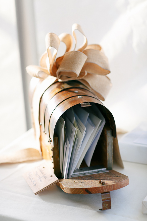 Mailbox wedding card holder