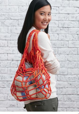 Market bag arm knit