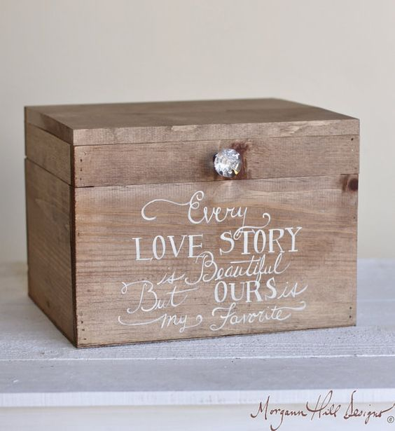 Recipe Box Wedding Card Holder