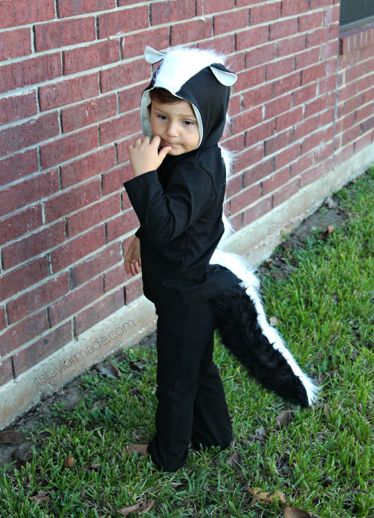 Skunk costume diy